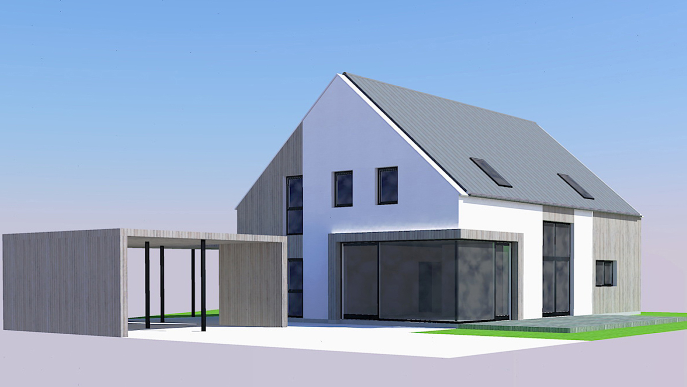 3D Modell _ Ansicht Süd_West